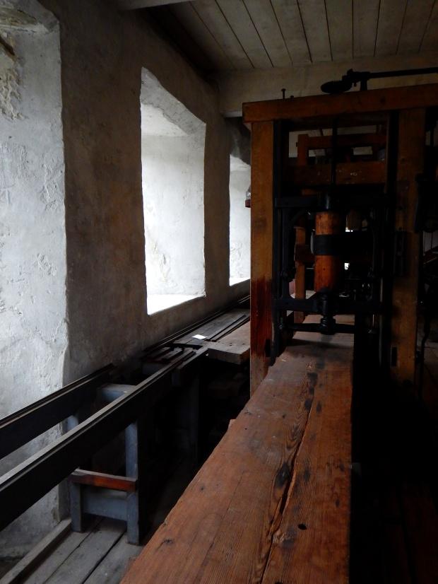 Planar in woodworking workshop, Wilkinson Mill, Slater Mill Historic Site, Pawtucket, Rhode Island