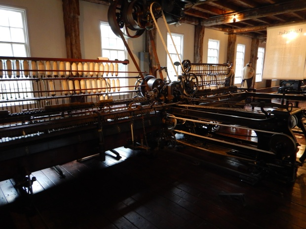 Hetherington Spinning Mule, Slater Mill, Slater Mill Historic Site, Pawtucket, Rhode Island