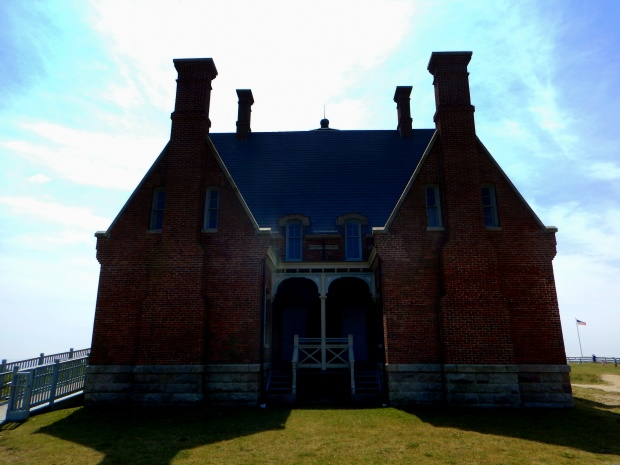 Backside of Southeast Lighthouse and keepers' quarters, Block Island, Rhode Island