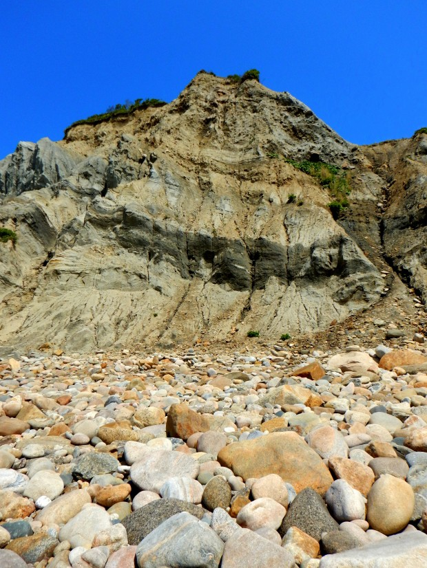 Cliffs from the beach, Mohegan Bluffs, Block Island, Rhode Island
