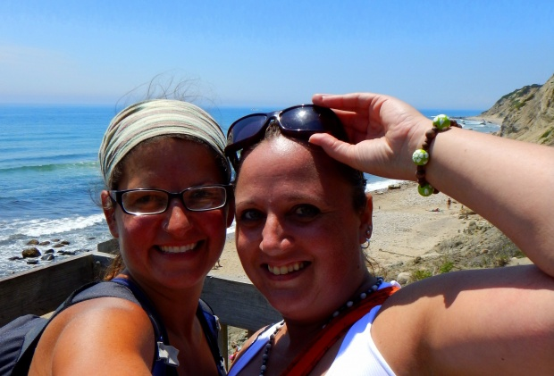 Mary and I at top of Mohegan Bluffs, Block Island, Rhode Island