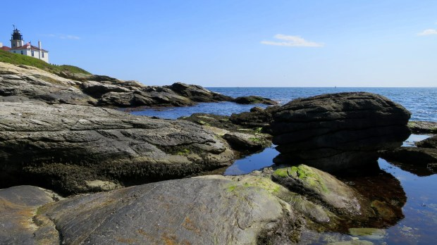 Coastline and Beavertail Lighthouse, Beavertail State Park, Jamestown, Rhode Island