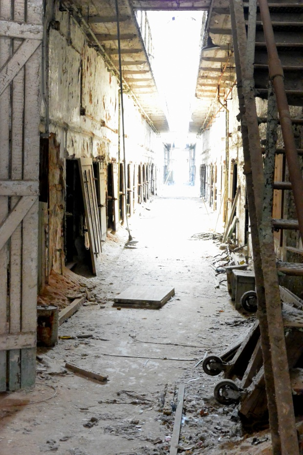 Hall under second floor, Eastern State Penitentiary, Philadelphia, Pennsylvania (Photo by Tina)