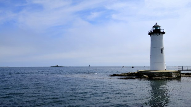 Portsmouth Harbor Lighthouse from Fort Constitution, New Castle, New Hampshire