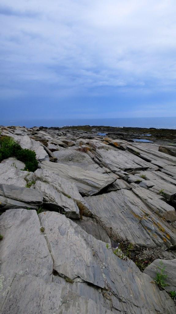 Fractured basalt near Cape Elizabeth Lighthouse, Cape Elizabeth, Maine