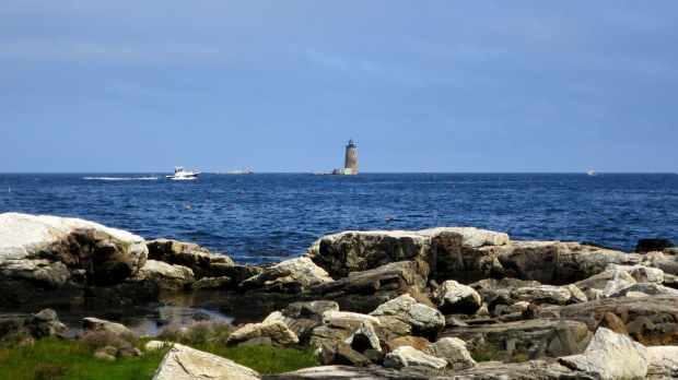 Whaleback Lighthouse from Fort Stark, New Castle, New Hampshire