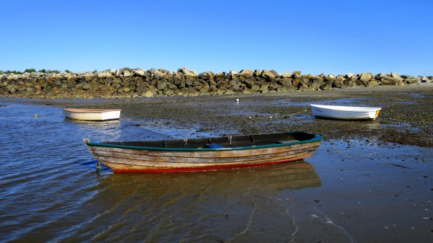 Three boats, Rye Harbor, New Hampshire