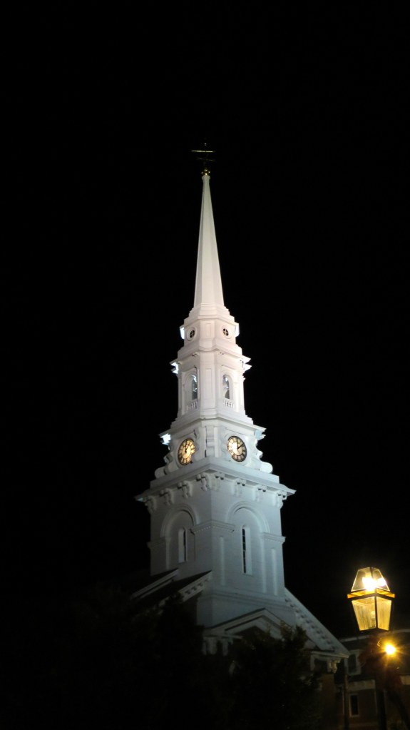 North Church at night, Portsmouth, New Hampshire