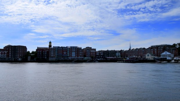 Portsmouth, New Hampshire waterfront from Piscataqua River