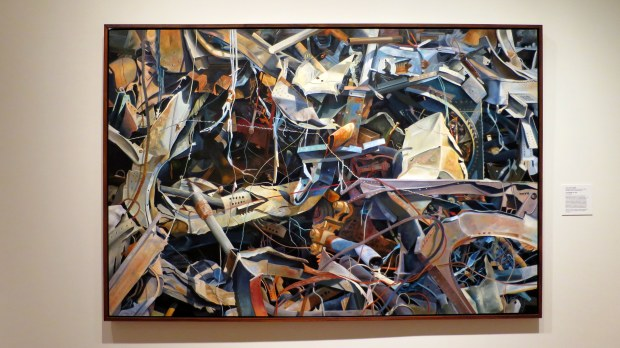 Scrap Metal VII, Anna Heid Audette, 1991, Currier Museum of Art, Manchester, New Hampshire