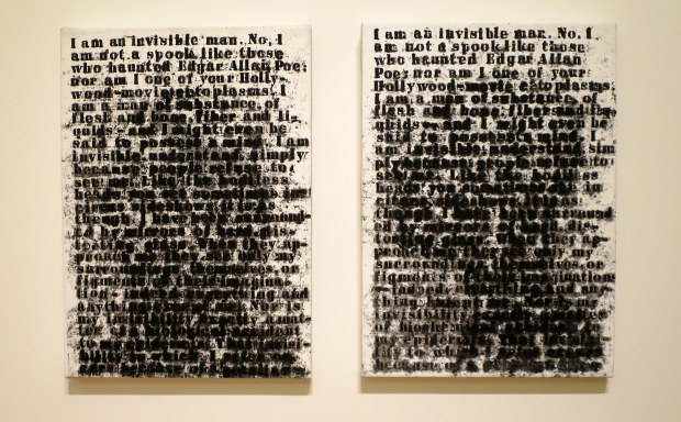 Invisible Man (Two Views), Glenn Ligon, 1991, Currier Museum of Art, Manchester, New Hampshire