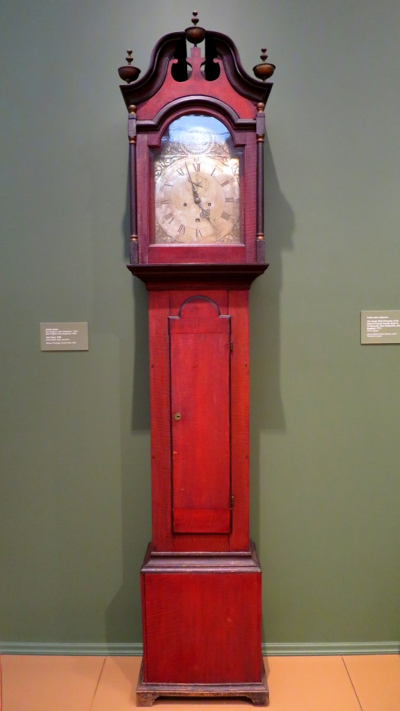 Tall Clock, Jacob Jones, 1785, Currier Museum of Art, Manchester, New Hampshire
