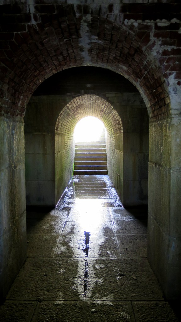 Inside battery underneath earthworks, Fort McClary, Kittery Point, Maine