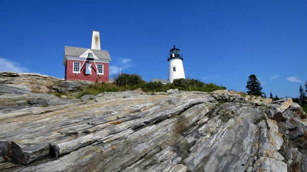 Tower and bell house, Pemaquid Point Lighthouse, Maine
