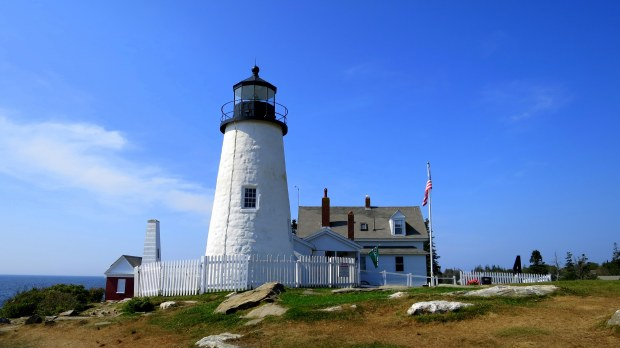 Lighthouse, keepers' quarters, and bell house, Pemaquid Point Lighthouse, Maine