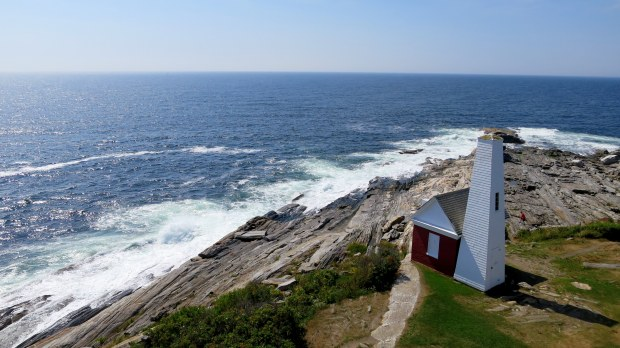 Bell house from the tower, Pemaquid Point Lighthouse, Maine