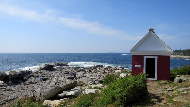 Oil house, Pemaquid Point Lighthouse, Maine