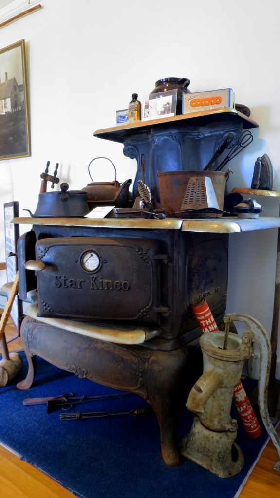 Really cool Star Kineo stove from the keeper's quarters that was manufactured in 1910, Marshall Point Lighthouse, Port Clyde, Maine