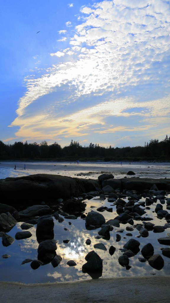 Cloud reflections, Birch Point State Park, Owls Head, Maine