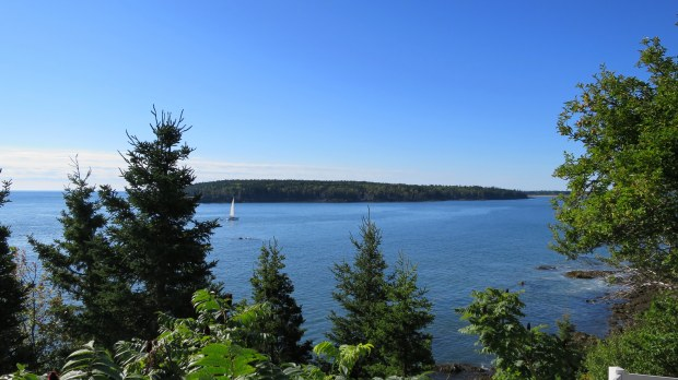 View of Rockland Harbor from Owls Head Light Station, Owls Head, Maine