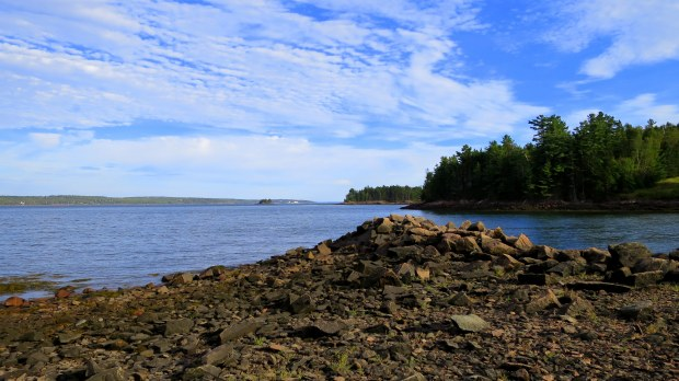 View across Passamaquoddy Bay,  St. Croix Island International Historical Site, Maine
