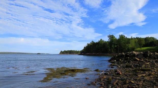 View across Passamaquoddy Bay,  St. Croix Island International Historical Site, Maine