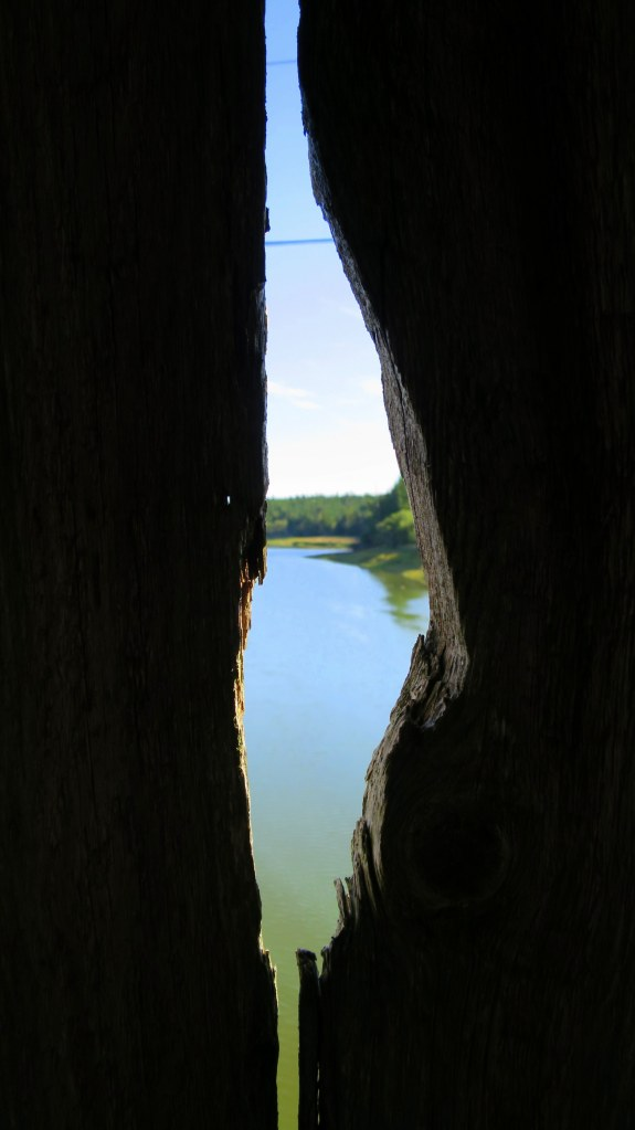 Looking out through Tynemouth Creek Covered Bridge, Tynemouth Creek, New Brunswick, Canada