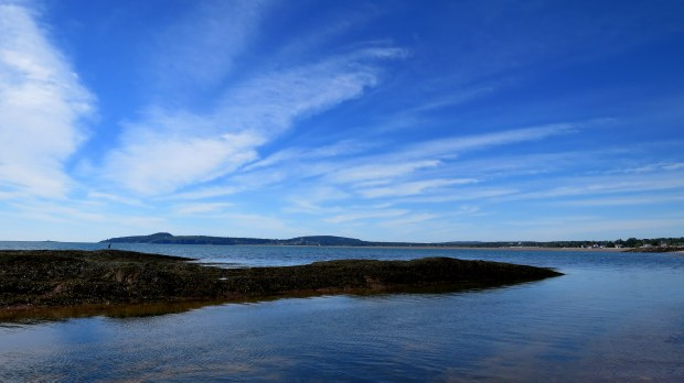 View from St. Martins Beach, St. Martins, New Brunswick,Canada