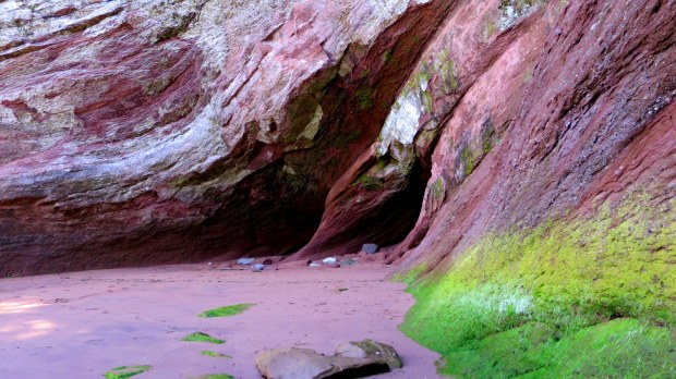 Looking into the sea caves, St. Martins Beach, St. Martins, New Brunswick, Canada