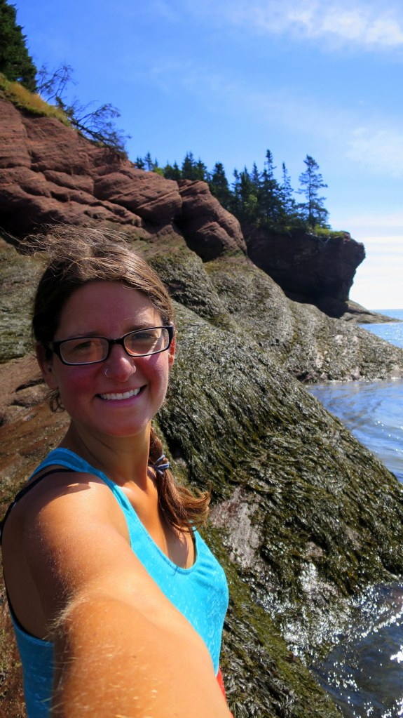 Me, Sea caves, St. Martins Beach, St. Martins, New Brunswick, Canada