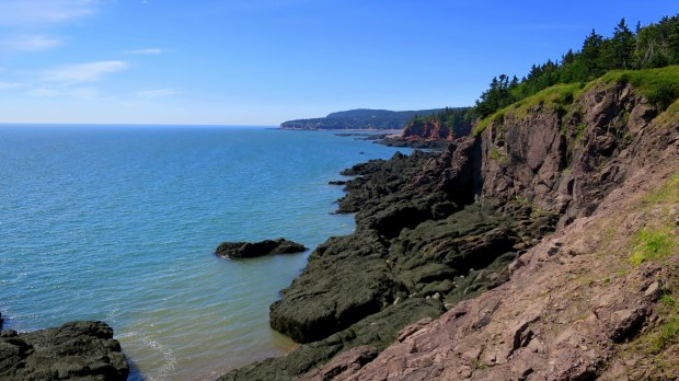 Coast near West Quaco Lighthouse, West Quaco, New Brunswick, Canada