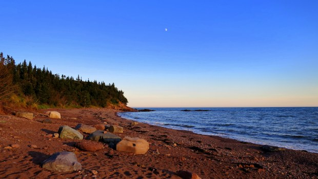 Dinner views on the beach, New Brunswick, Canada