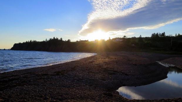 Dinner views on the beach, New Brunswick, Canada