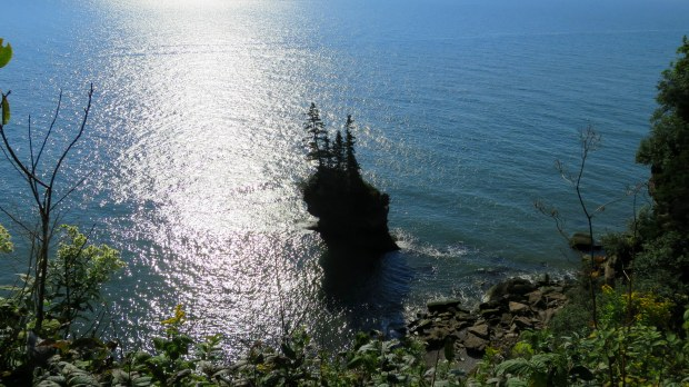 Sea stack, Fundy Trail, New Brunswick, Canada