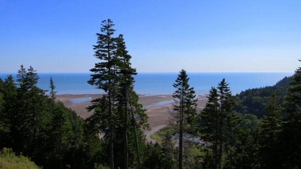 Mouth of the Big Salmon River from Salmon River Lookout, Fundy Trail, New Brunswick, Canada