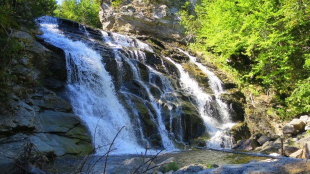 Closeup of Laverty Falls, Laverty Falls Trail, Fundy National Park, New Brunswick, Canada