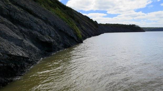 Joggins Fossil Cliffs at high tide, Nova Scotia, Canada