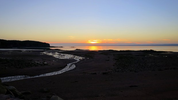 Sunset at Spicer's Cove, Cape Chignecto Provincial Park, Nova Scotia, Canada