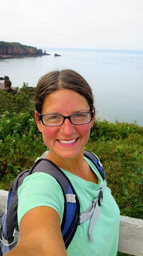 Me, Squally Point Lookoff, Eatonville Trail, Cape Chignecto Provincial Park, Nova Scotia, Canada