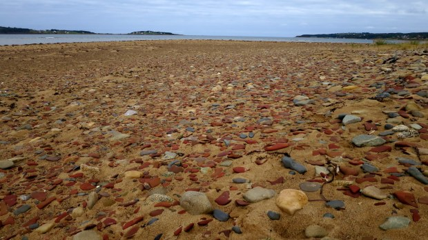 Tumbled rocks on beach, Port Hood Day Park, Nova Scotia, Canada