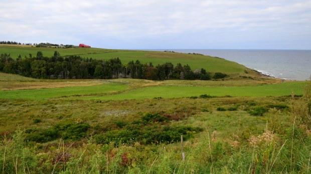 Farm seen from entrance to West Mabou Beach Provincial Park, Nova Scotia, Canada