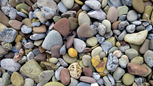 Beach rocks, West Mabou Beach Provincial Park, Nova Scotia, Canada