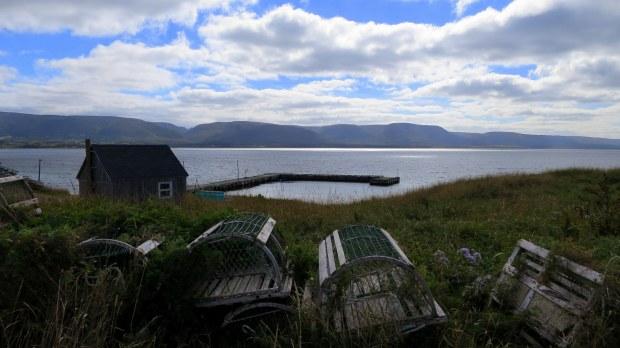 Lobster traps, Cheticamp Island, Nova Scotia, Canada