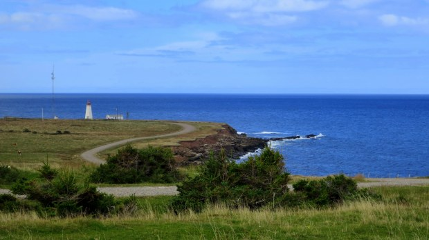 Road to Enragee Point Lightstation, Cheticamp Island, Nova Scotia, Canada