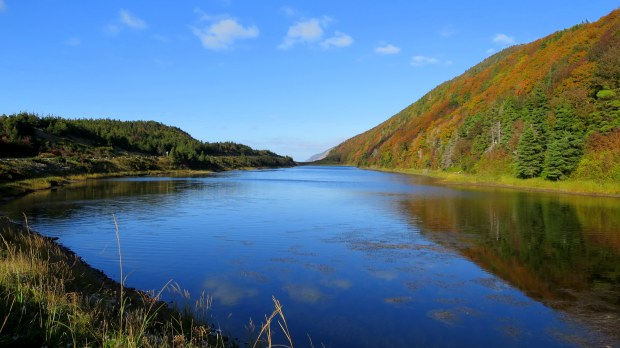 Lake near Pillar Rock, Cape Breton Highlands National Park, Nova Scotia, Canada