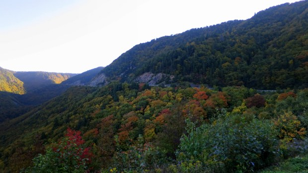 Mountains along the Cabot Trail, Cape Breton Highlands National Park, Nova Scotia, Canada