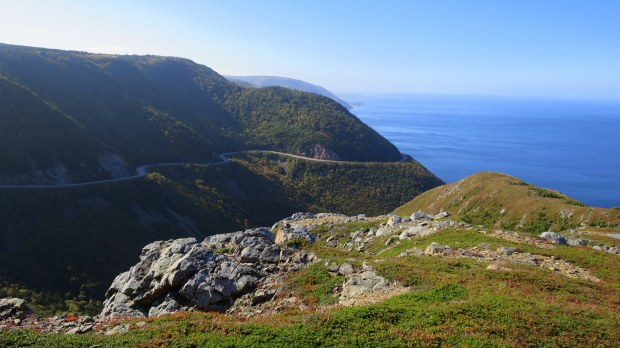 View from headland, Skyline Trail, Cape Breton Highlands National Park, Nova Scotia, Canada