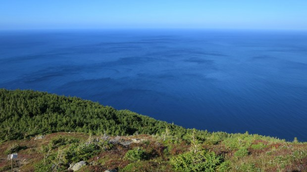 View into the Gulf of St. Lawrence, Skyline Trail, Cape Breton Highlands National Park, Nova Scotia, Canada