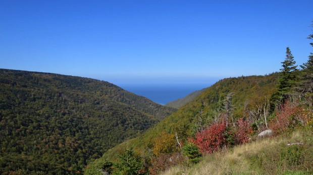 Fishing Cove lookoff, Cape Breton Highlands National Park, Nova Scotia, Canada