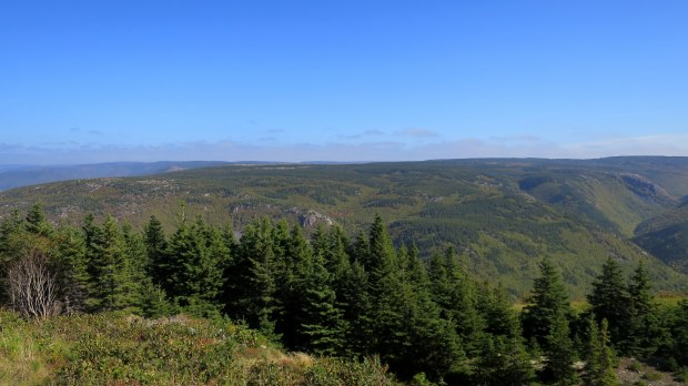 The Highland Plateau and the MacKenzie River Valley, Cape Breton Highlands National Park, Nova Scotia, Canada